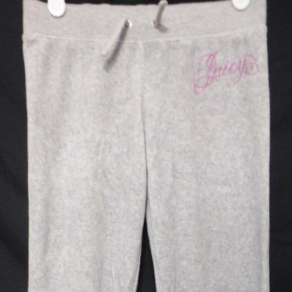 JUICY COUTURE, size 7, grey soft fleece sweatpants